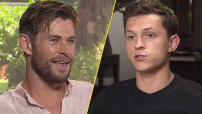 Tom Holland y Chris Hemsworth se insultan en entrevista