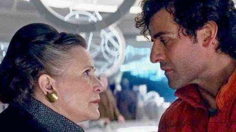 'Star Wars: El último Jedi': Leia cachetea más de 40 veces a Poe en este video