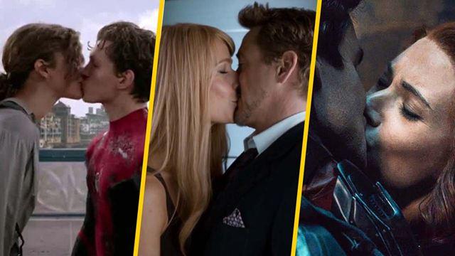 10 besos que se volvieron entrañables en las películas de Marvel