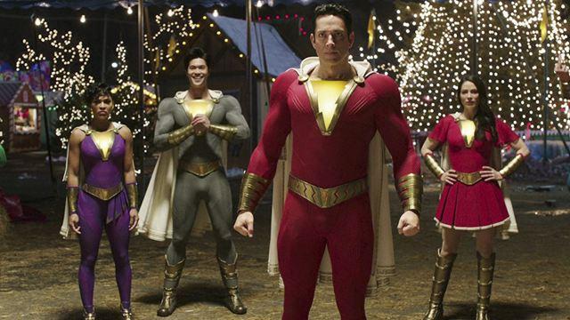 'Shazam 2': Primera imagen de los nuevos trajes de la familia del superhéroe