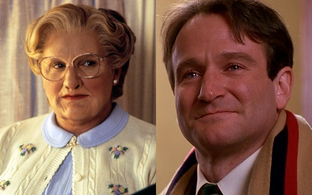 Robin Williams como la señora Doubtfire